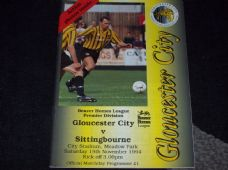 Gloucester City v Sittingbourne, 1994/95